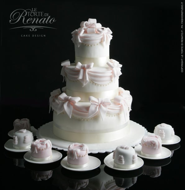 wedding cake e mini cake
