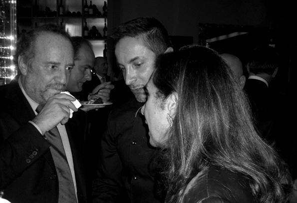 Renato Ardovino con Clemente Mimun e Cesara Buonamici
