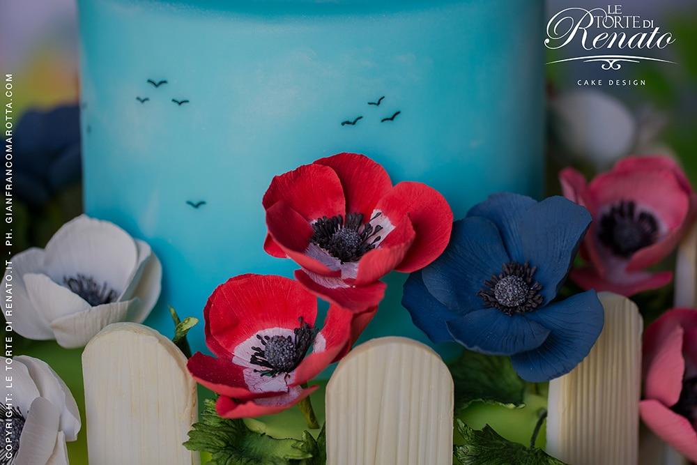 dettaglio torta anemoni con logo 2